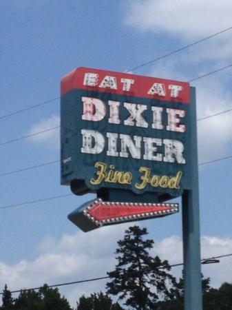 Dixie Diner: Road sign