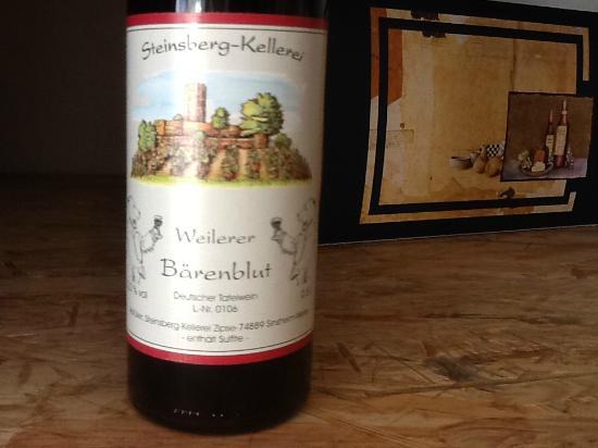 Kueferschaenke Hotel: Wine tasting at dinner