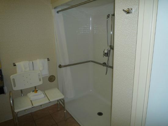 Best Western Plus Inn at Valley View: Dusche für Personen mit besonderen Bedürfnissen