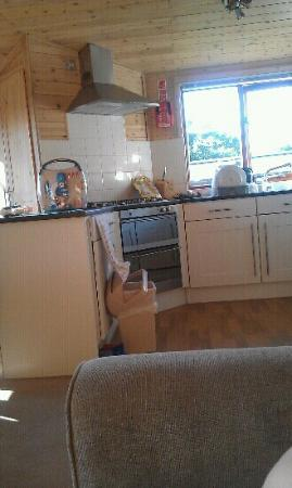 Lindale Holiday Park: excuse our mess lol - lovely kitchen