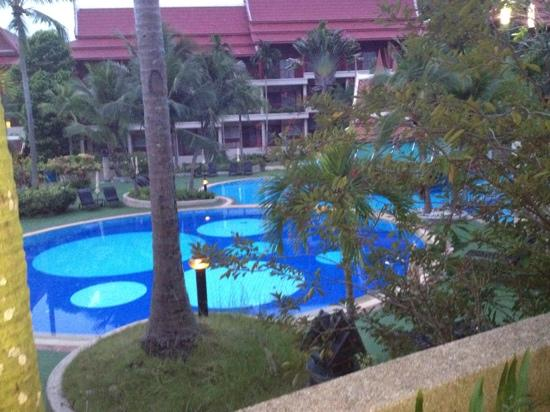 Krabi Thai Village Resort: 1 of the 3 pools and view from room