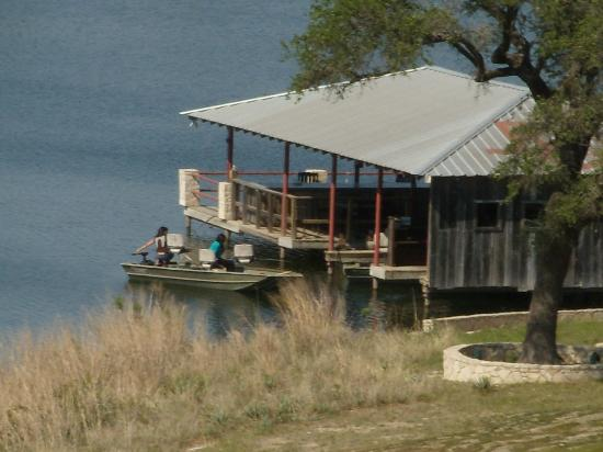 Rough Creek Lodge: The fishing dock from our balcony
