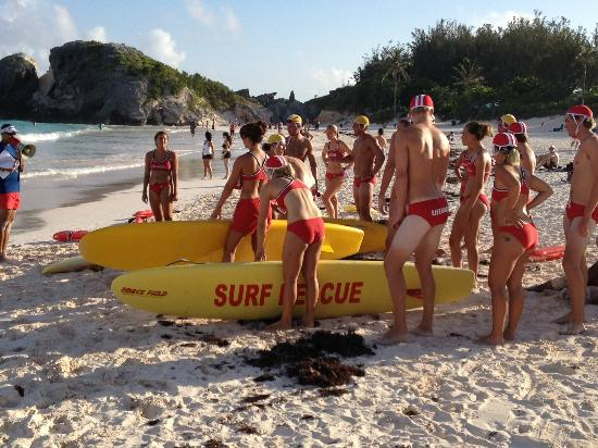 Horseshoe Bay Beach: Horseshoe bay - Life Guard Training