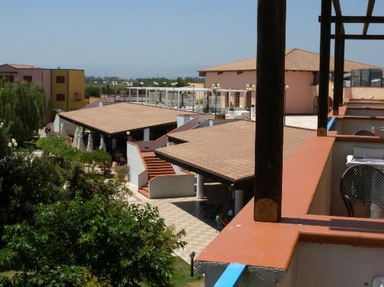 Hotel Portogreco: Vista da una camera lato piscina