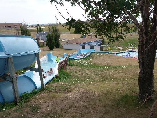 Rushmore Waterslide Park: Tube Ride with Employee Helping Riders Along