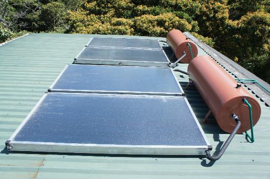 Hotel Belmar: Solar panels for your shower!