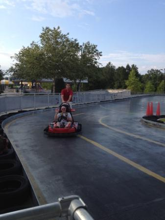 Frankie's Fun Park: getting helped in at the shamrock track