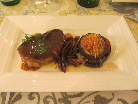 Chateau Talaud : Roasted Lamb served Chef's dinner at the Chateau