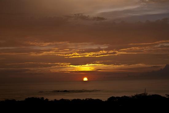 Sunset from the balcony at Casa Bambora