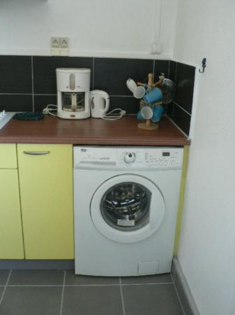 Villas Heol: Washing machine - dryer rack is available in the apartment