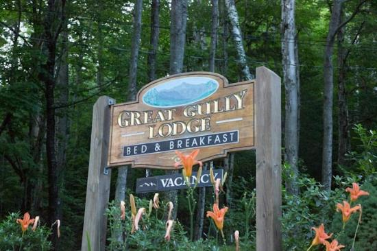 Great Gully Lodge: Entrance sign