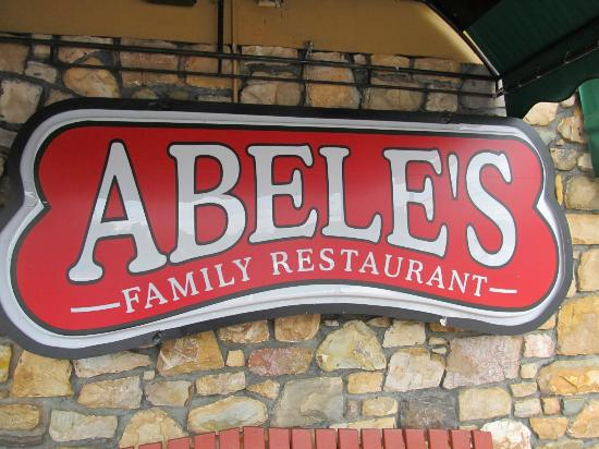 Abele's Family Restaurant: Front sign