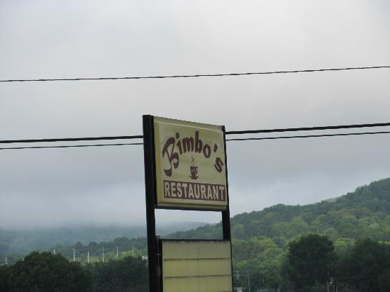 Bimbo's: Sign as seen from the road
