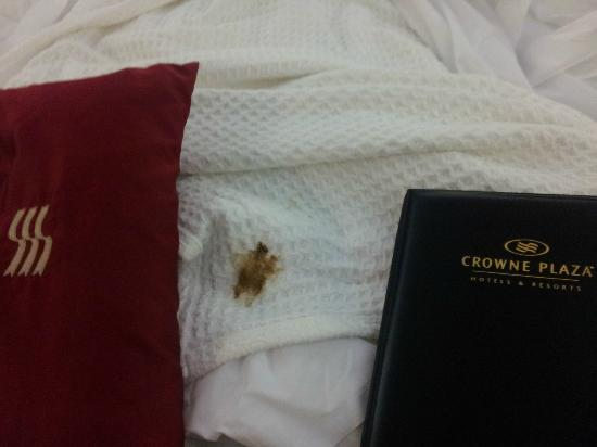 Crowne Plaza Hotel Hamilton: Dirty linens