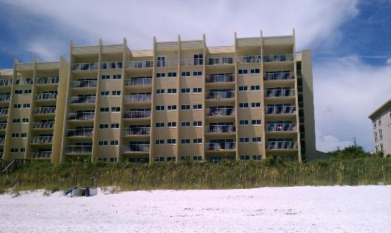 The Beach House Condominiums: view from beach