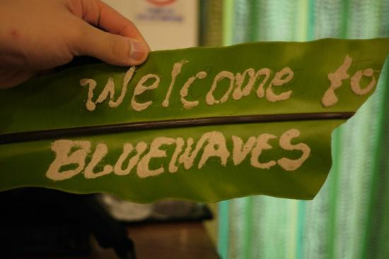 Blue Waves Beach House: Welcome Leaf
