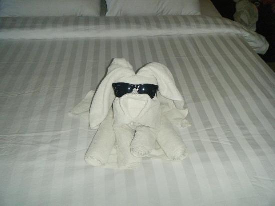 Satriya Cottages: Towel Dog 