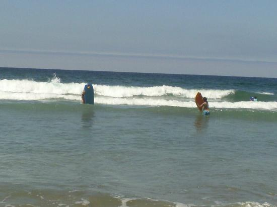 South Carlsbad State Beach: Boogie boarding