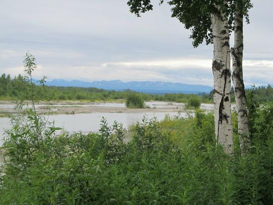 Susitna River Lodging: View of River from BnB