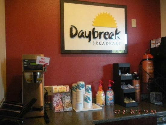 Days Inn Eugene Downtown/University: breakfast area