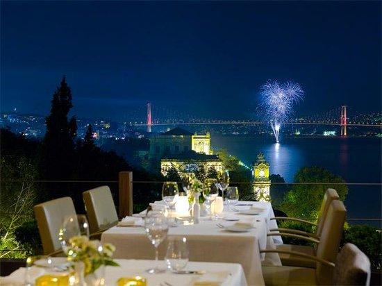 Topaz Restaurant: fireworks @ Bosphorus