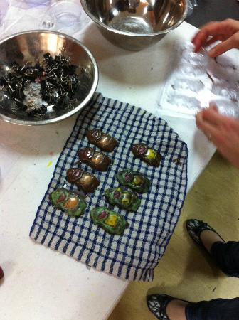 Adelaide Chocolate School: Turned out chocolates