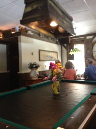 Fischers Happy Hour Tavern : Inside Fischer's - note pool table