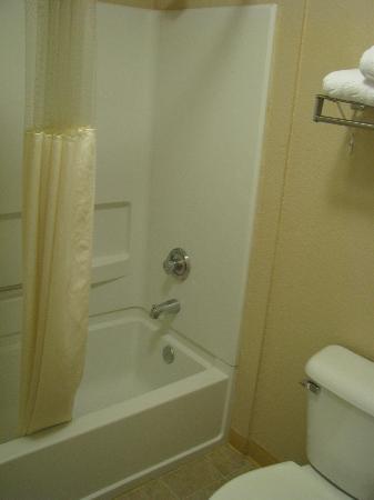 La Quinta Inn & Suites Las Vegas RedRock/Summerlin : shower/toilet area