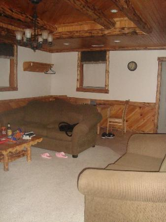 Sojourner's Lodge & Log Cabin Suites: livingroom