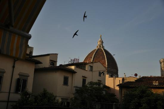 Hotel Europa: view of Duomo from our balcony - overlooks small courtyard