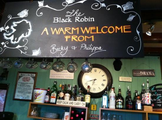 The Black Robin: welcoming bar