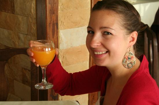 Hotel Golden Beach : me having breakfast