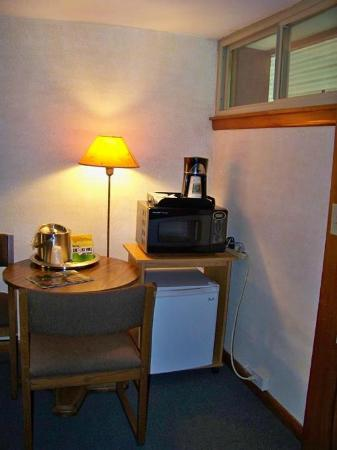 The Usonian Inn LLC: nice extras, fridge & microwave