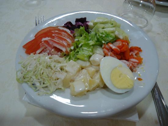 Tanjah Flandria : first course - a salad