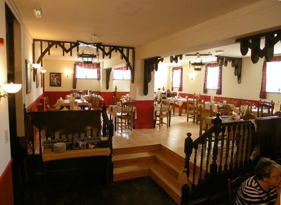 Rustlers Restaurant: Upstairs restaurant ready for service