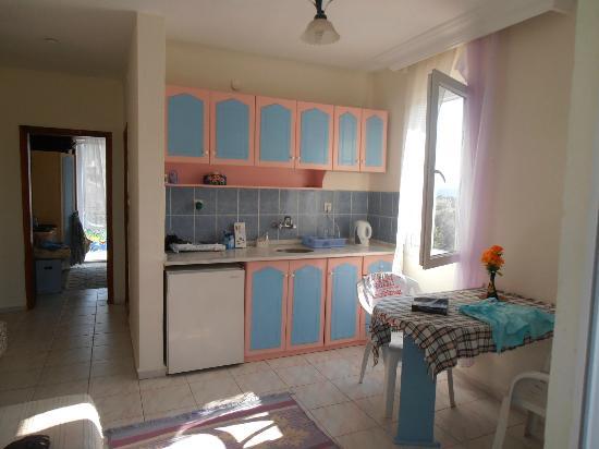 Mavi Hotel : the kitchen/living room