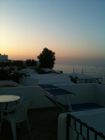 La Sirenetta-Park Hotel: tramonto su La Tartana