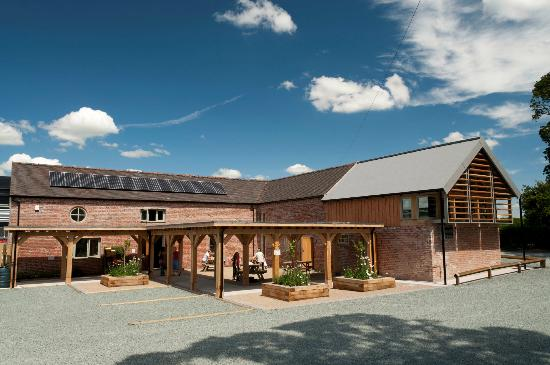 Market Drayton, UK: Fordhall Farm Tearoom, Farm Shop & Restaurant. Our sustinable building with sheep's wool, hemp &