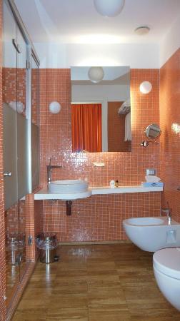 JC Contemporary Hotel: splendido bagno con doccia