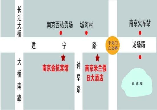 Nanjing Jinhang Hotel : Map