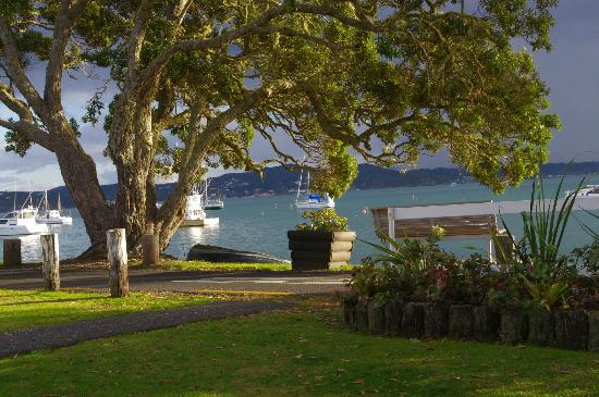 Hananui Lodge Motel: View from room, late afternoon