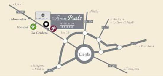 Finca Prats Hotel Golf & Spa: Map