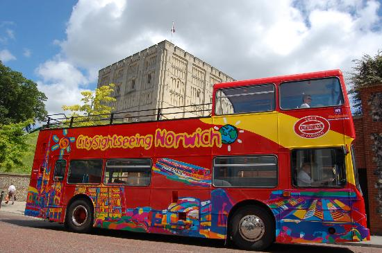 City Sightseeing Hop-on, Hop-off Tour of Norwich