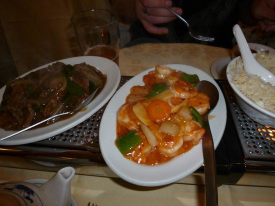 Ken's Beijing: Sweet and sour pork and pepper beef