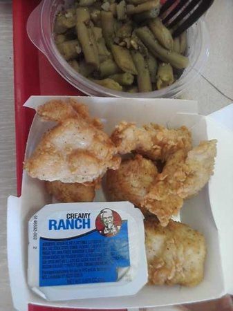 KFC Chicken Bites - 6pc and Beans