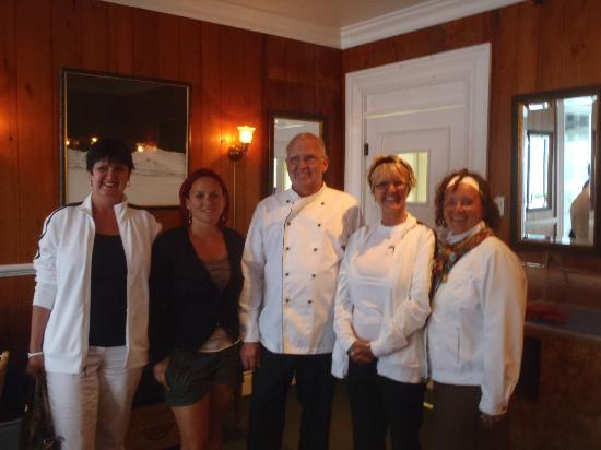 Hotel Georges : the chef and our girls