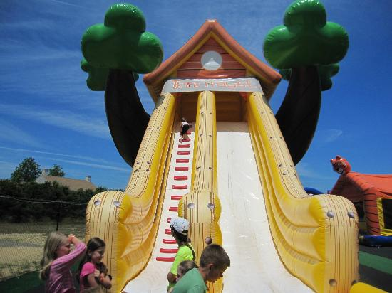 West Yarmouth, MA: One of many fun slides at the park