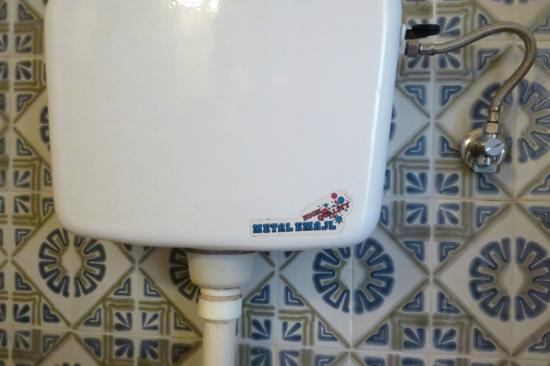 Remisens Premium Hotel Kvarner - Adults Only: 70's tiles and toilet with stickers