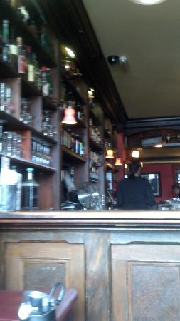 Crotty's: View of the bar from the south window seat