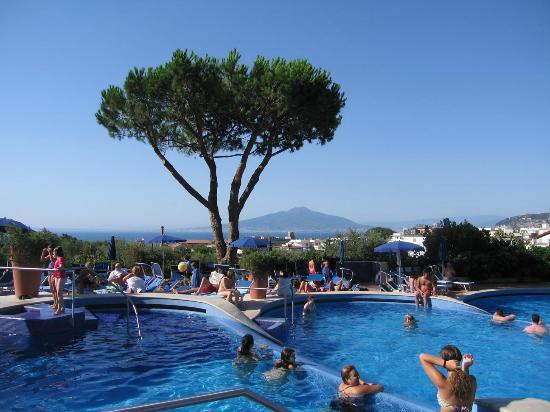 Hilton Sorrento Palace: Vesuvio from the pool